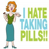 17937619-an-image-of-a-woman-who-hates-taking-pills